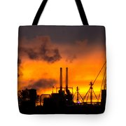 Industrial Strength Sunset Tote Bag