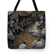 Infantrymen Receive Their Safety Brief Tote Bag