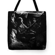 Infantrymen Take Advantage Of Cover Tote Bag
