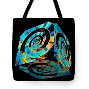 Infinity Time Cube On Black Tote Bag