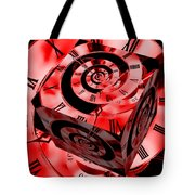 Infinity Time Cube Red Tote Bag