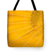 Inflating Folds Of Yellow Tote Bag