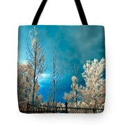 Infrared Summer Storm Tote Bag