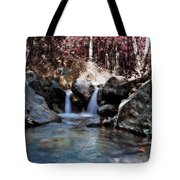 Infrared Waterfall Tote Bag