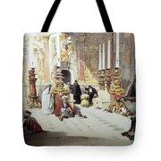 Inside Holy Specular Church In Jerusalem Tote Bag