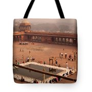 Inside Jama Masjid In The Huge Courtyard Tote Bag