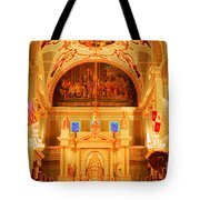 Inside St Louis Cathedral Jackson Square French Quarter New Orleans Accented Edges Digital Art Tote Bag