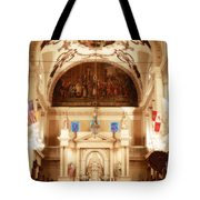 Inside St Louis Cathedral Jackson Square French Quarter New Orleans Diffuse Glow Digital Art Tote Bag