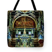 Inside St Louis Cathedral Jackson Square French Quarter New Orleans Glowing Edges Digital Art Tote Bag