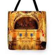 Inside St Louis Cathedral Jackson Square French Quarter New Orleans Ink Outlines Digital Art Tote Bag