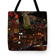 Inside The Bar In Luckenbach Tx Tote Bag