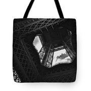 Inside The Eiffel Tower Tote Bag