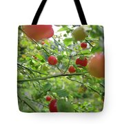 Inside The Red Huckleberry Tote Bag