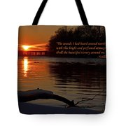 Inspirational Sunset With Quote Tote Bag