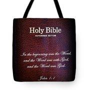 Inspirations 17 John 1 V1 Tote Bag by Sara  Raber