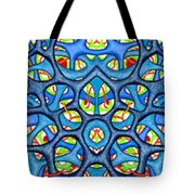 Interconnection In Blue Design Tote Bag