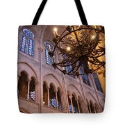 Interior Notre Dame Cathedral Tote Bag