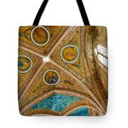 Interior St Francis Basilica Assisi Italy Tote Bag by Jon Berghoff