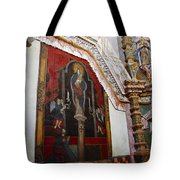 Interior Wall San Xavier Del Bac Mission Tote Bag