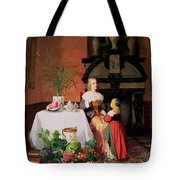 Interior With Figures And Fruit Tote Bag