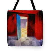 Interior With Red Walls Tote Bag