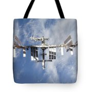 International Space Station Backdropped Tote Bag