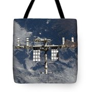 International Space Station Backgropped Tote Bag
