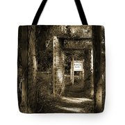 Into The Butterfly Garden Sepia Tote Bag