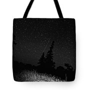 Into The Night Monochrome Tote Bag