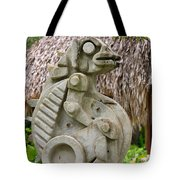 Intriguing Taino Sculpture Tote Bag by Karen Lee Ensley