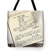 Invoice Of A Sale Of Black Slaves Tote Bag