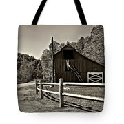 Involved In One's Work Sepia Tote Bag