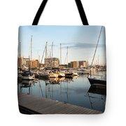 Ipswich Marina Sunset Tote Bag