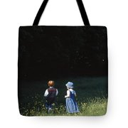 Ireland Children In A Field Tote Bag by The Irish Image Collection