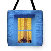 Ireland Cottage Window At Night Tote Bag