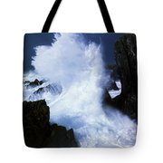 Ireland, Waves Crashing On Rocks Tote Bag