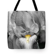 Iris - Bw Tote Bag
