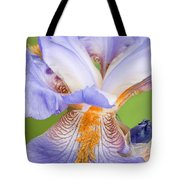 Iris Close Up Blue And Gold Tote Bag