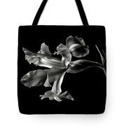 Iris In Black And White Tote Bag