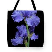 Iris On Black Tote Bag