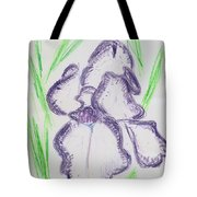 Iris Outlined Tote Bag