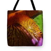 Iris Stamen Macro Tote Bag