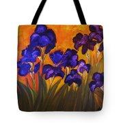Irises In Motion Tote Bag