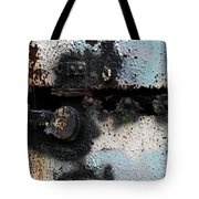 Iron Door Rusted Through Tote Bag