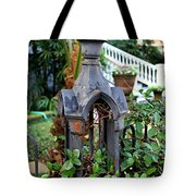 Iron Post Tote Bag by Perry Webster