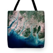Irrawaddy River Delta Tote Bag by Nasa
