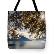 Islands On A Lake In Autumn Tote Bag