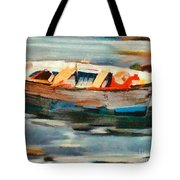 Istrian Fishing Boat Tote Bag