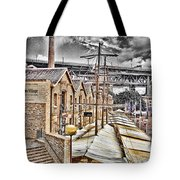 Italian Village-sydney Harbor Bridge Tote Bag