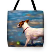Jack At The Beach Tote Bag by Michelle Wrighton